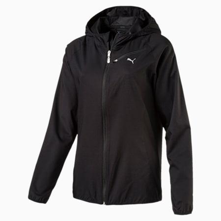 Core-Run Hooded Women's Running Jacket, Puma Black, small-SEA