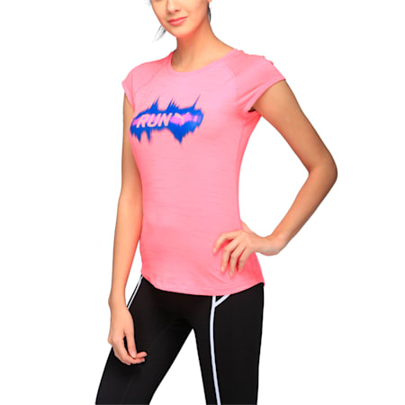 Running Women's T-Shirt, KNOCKOUT PINK Heather, small-IND