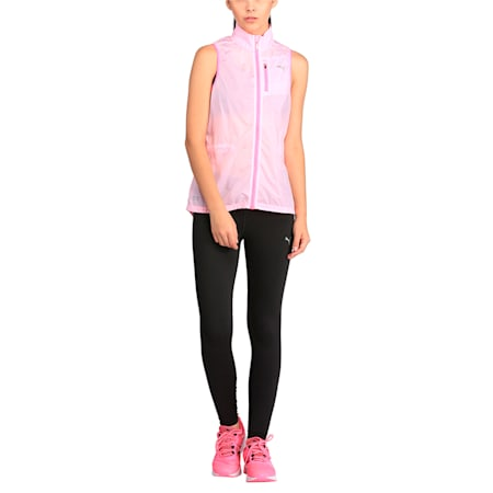 Running Women's Lite Gilet, Puma White-KNOCKOUT PINK, small-IND