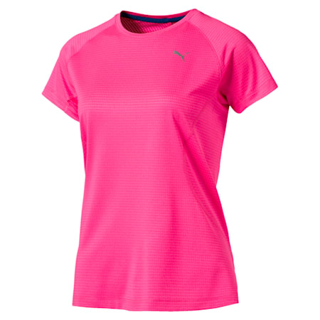 Women's Running Speed Short Sleeves Tee, KNOCKOUT PINK Heather, small-IND