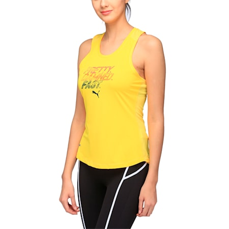 Running Women's PWRCOOL Slogan Tank Top, ULTRA YELLOW, small-IND