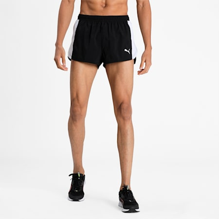 Cross the Line Split Woven dryCELL Men's Shorts, Puma Black, small-IND
