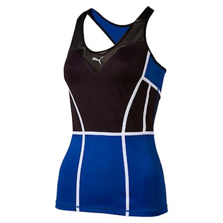 Active Training Women's PWRSHAPE Tank Top, TRUE BLUE-Puma Black, small-IND