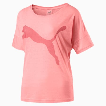 Active Training Women's Loose T-Shirt, Soft Fluo Peach, small-SEA