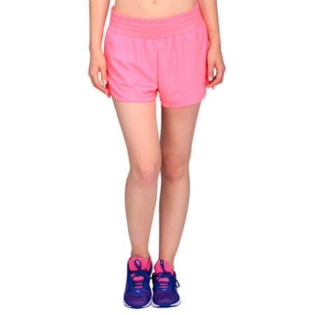 Active Training Women's Mesh Shorts, KNOCKOUT PINK, small-IND