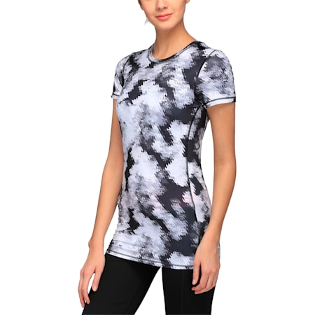 Training Women's Essential Graphic T-Shirt, black-white explosive print, small-IND