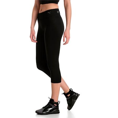 Training Women's Essential 3/4 Tights, Puma Black, small-IND