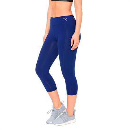Training Women's Essential 3/4 Tights, Blue Depths, small-IND