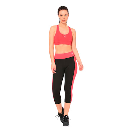Training Women's Essential 3/4 Tights, Puma Black-Love Potion, small-IND