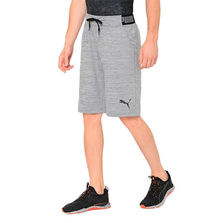 Active Training Men's Tech Fleece Shorts, Medium Gray Heather, small-IND