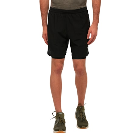Running Men's Pace 2 in 1 Shorts, Puma Black, small-IND