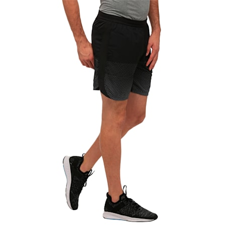 Running Men's Pace Graphic Shorts, Puma Black, small-IND