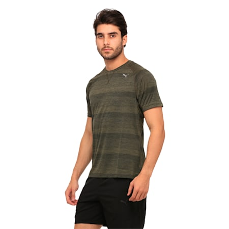 Running Men's Energy T-Shirt, Olive Night Heather, small-IND