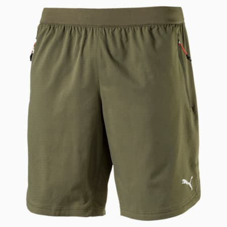 Running Men's Energy Shorts, Olive Night, small-IND