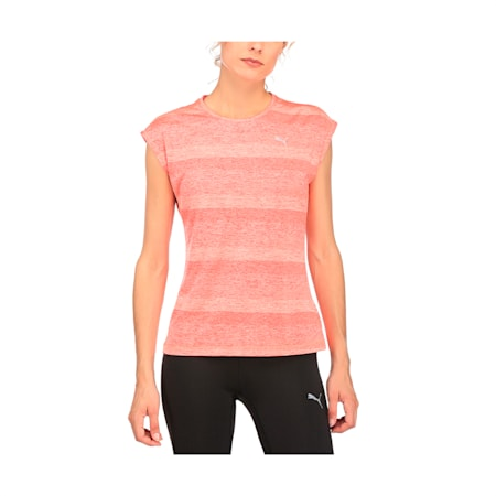 Running Women's Epic T-Shirt, Poppy Red Heather, small-IND