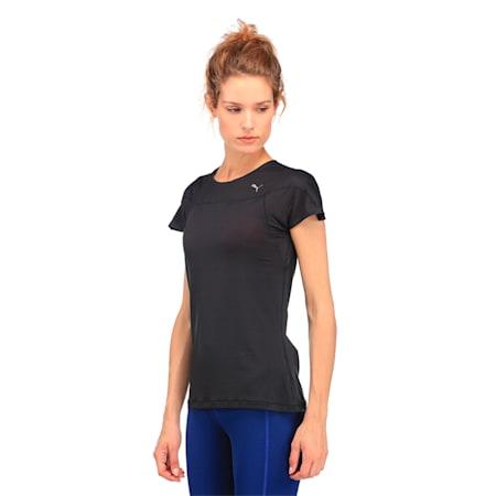 Running Women's Speed T-Shirt, Puma Black, small-IND