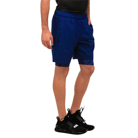 Active Training Men's 2 in 1 Shorts, Blue Depths, small-IND