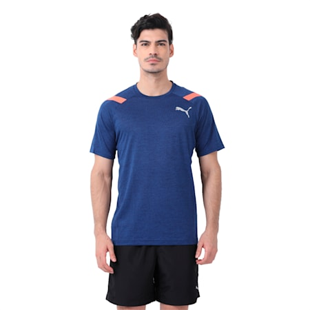 Active Training Men's Bonded Tech T-Shirt, Blue Depths Heather, small-IND