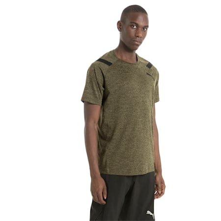 Active Training Men's Bonded Tech T-Shirt, Olive Night Heather, small-IND