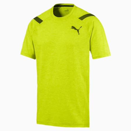 Active Training Men's Bonded Tech T-Shirt, Nrgy Yellow Heather, small-IND