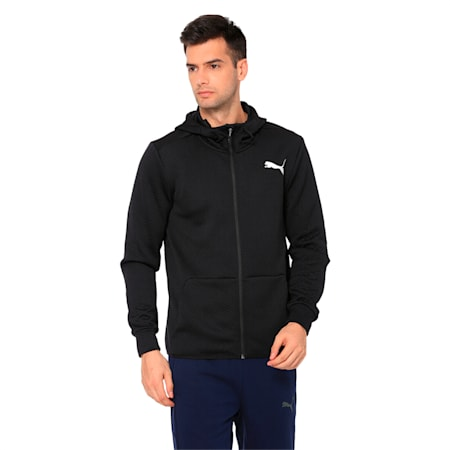 VENT FLEECE Men's Jacket, Puma Black, small-IND