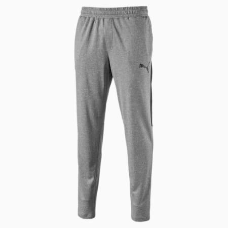 Men's Tapered Sweatpants, Medium Gray Heather, small-IND