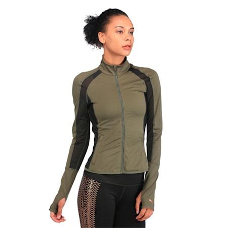 Active Training Women's PWRSHAPE Jacket, Olive Night, small-IND