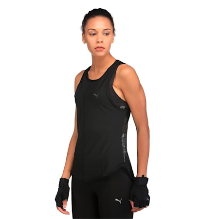 Active Training Women's Explosive Mesh Tank Top, Puma Black, small-IND