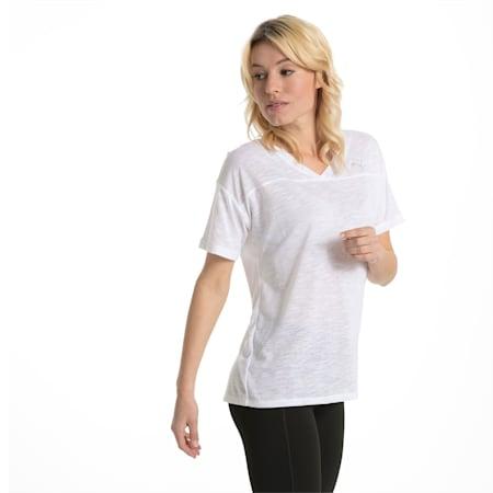 Active Training Women's Boyfriend T-Shirt, Puma White Heather, small-IND