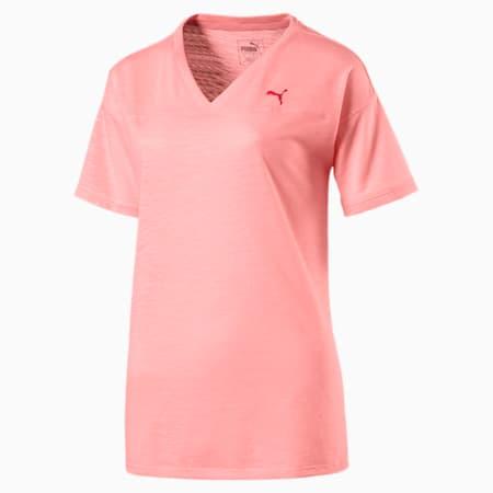 Active Training Women's Boyfriend T-Shirt, Soft Fluo Peach Heather, small-IND