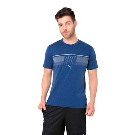 Run Men's Running T-Shirt, Sargasso Sea Heather, small-IND
