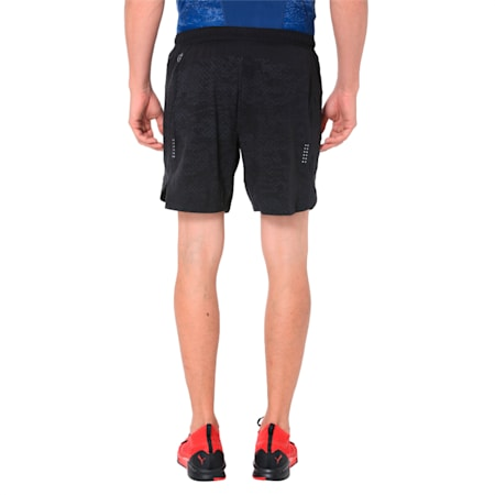 Pace 7'' Graphic Men's Running Shorts, Puma Black, small-IND