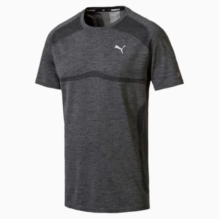 PWRRUN evoKNIT Men's Short Sleeve Running T-Shirt, Dark Gray Heather, small-IND