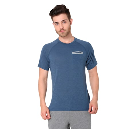 Energy Short Sleeve Men's Running T-Shirt, Sargasso Sea Heather, small-IND
