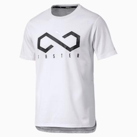 OceanRun Graphic Men's Running T-Shirt, Puma White, small-IND