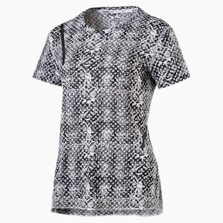 Graphic Short Sleeve Women's Running T-Shirt, puma white-Puma Black Tonal, small-IND