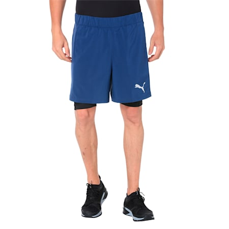 TECH Woven 2 in 1 Men's Training Shorts, Sargasso Sea-Puma Black, small-IND