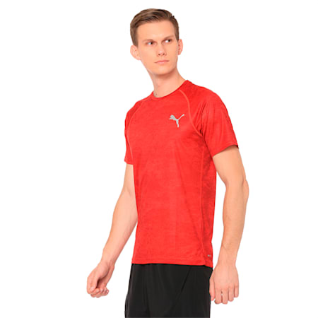 Men's Graphic Vent Training Top, flame scarlet, small-IND