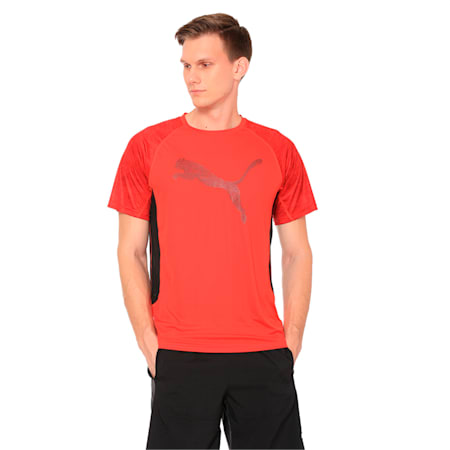 Men's Vent Cat Training Top, Flame Scarlet, small-IND