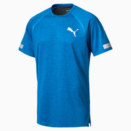 Bonded Tech Short Sleeve Men's Tee, BRILLIANT BLUE Heather, small-IND