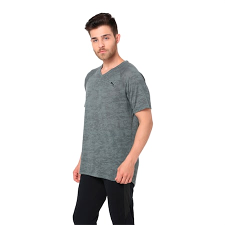 drirelease Men's Short Sleeve Training Top, Castor Gray Heather, small-IND