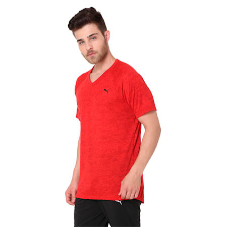 drirelease Men's Short Sleeve Training Top, Flame Scarlet Heather, small-IND