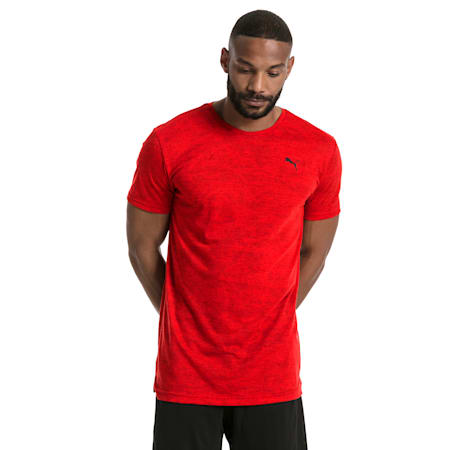 drirelease Graphic Men's Short Sleeve Training Tee, Flame Scarlet, small-SEA