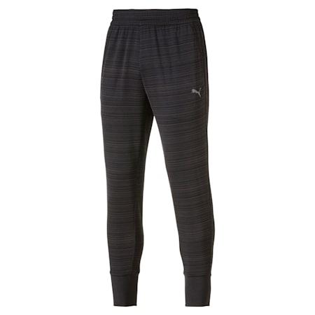 Energy Trackster Men's Training Sweatpants, Puma Black Heather, small-IND