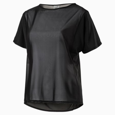 Explosive Women's Short Sleeve Training Top, Puma Black, small-IND