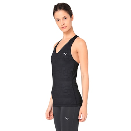 ALL EYES ON ME Women's Tank Top, Puma Black-Solistice gel prt, small-IND