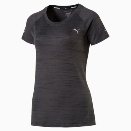 Epic Short Sleeve Women's Training Top, Dark Gray Heather, small-IND