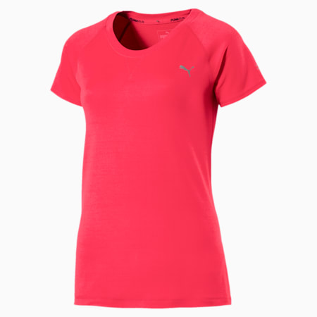 Epic Short Sleeve Women's Training Top, Paradise Pink Heather, small-IND