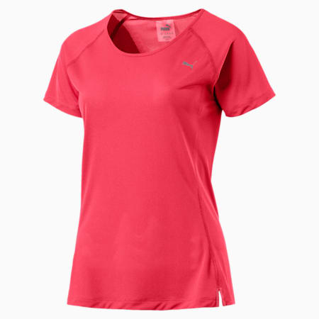 Core-Run Short Sleeve Women's Training Top, Paradise Pink, small-IND