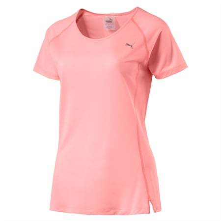 Core-Run Short Sleeve Women's Training Top, Soft Fluo Peach, small-IND